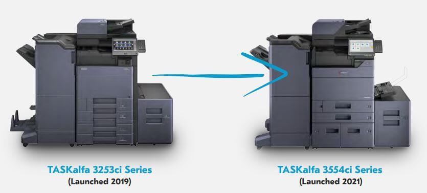 TASKalfa 3253ci Series (Launched 2019) TASKalfa 3554ci Series (Launched 2021)